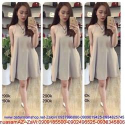Đầm suông xòe nhẹ cổ yếm xinh dễ thương thời trang hè DM148