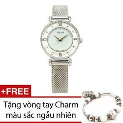THANH_LỊCH Đồng hồ nữ JULIUS JU964 màu trắng xinh xắn và trang nhã
