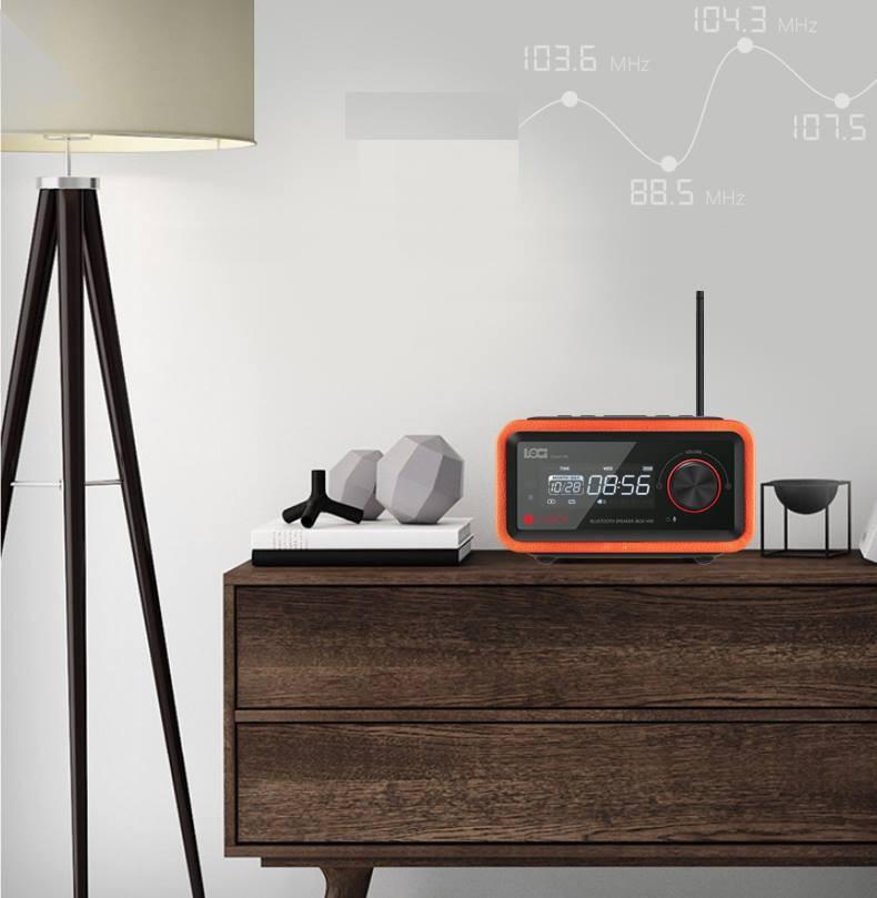 Loa Bluetooth đài FM Radio Đồng hồ báo thức LOCI Smartlife 7