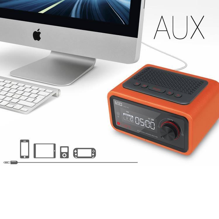 Loa Bluetooth đài FM Radio Đồng hồ báo thức LOCI Smartlife 3