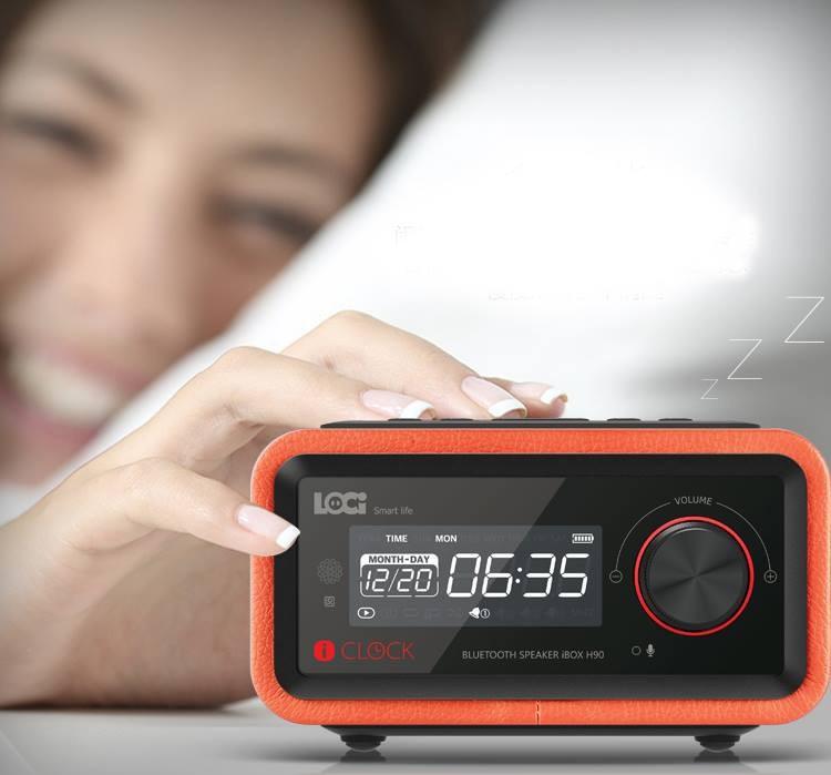 Loa Bluetooth đài FM Radio Đồng hồ báo thức LOCI Smartlife 5