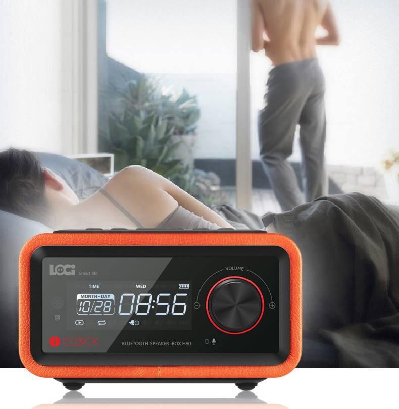 Loa Bluetooth đài FM Radio Đồng hồ báo thức LOCI Smartlife 6