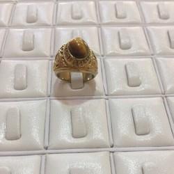 Nhẫn nam đính đá nâu