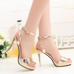Giày cao gót ánh vàng cao cấp - LN1091