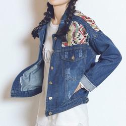 Áo khoác jacket họa tiết thổ cẩm :: 5765 ::có hình thật::