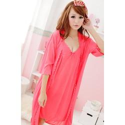 Đầm ngủ kèm áo choàng