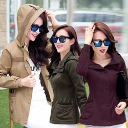 Áo Khoác Kaki Nữ 3 màu như hình