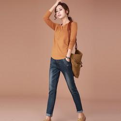 quần jean baggy lưng thun túi xéo  TB0329