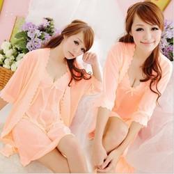 Đầm ngủ kèm áo choàng D33