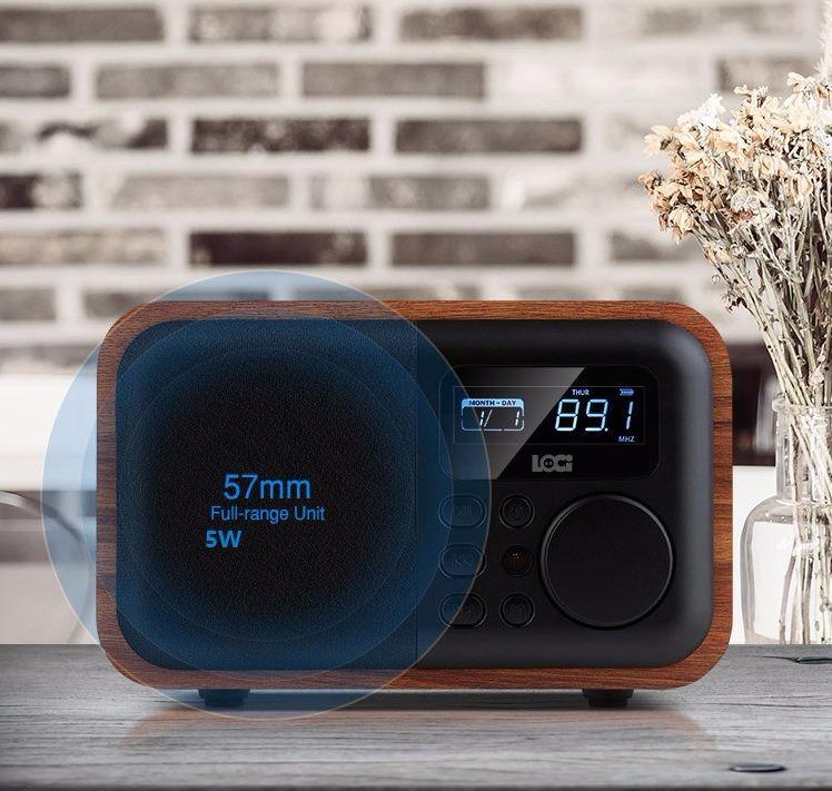 Đồng Hồ Báo Thức Kèm Radio Loa Bluetooth Loci D90 12
