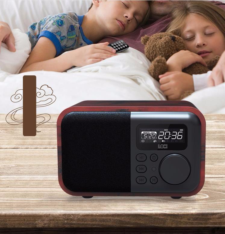 Đồng Hồ Báo Thức Kèm Radio Loa Bluetooth Loci D90 13