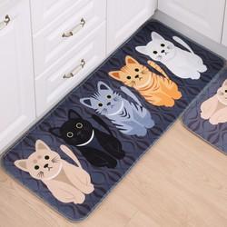 1 Thảm Lót Sàn Chống Thấm Mèo Con Dễ Thương 50x120cm