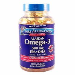 Viên dầu cá Pure Alaska Omega-3 500mg 180 viên Wowmart VN