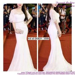 Đầm dạ hội đuôi cá tay cánh tiên sang trọng như Hương Giang sDCE21