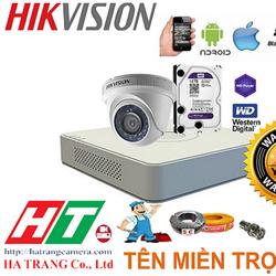 Trọn bộ 1 mắt Camera quan sát Hikvision 1.0 HD