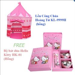 Bộ Lều Công Chúa Hoàng Tử KL và Bộ bát đũa dành cho bé HK