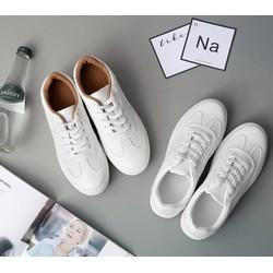 Giày bata trắng cổ viền