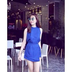 Sét áo yếm quần váy xanh coban