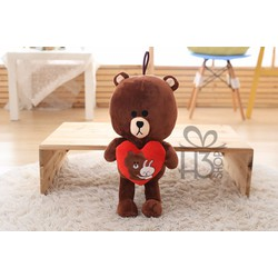 Thú bông gấu brown cầm tim 70cm