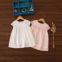 Áo sơ mi Simply bé gái trắng và hồng 10y Trắng