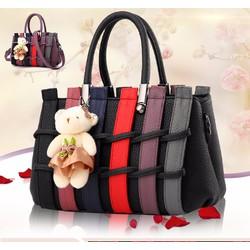 Túi xách nữ hàng rào kèm gấu - LN1098