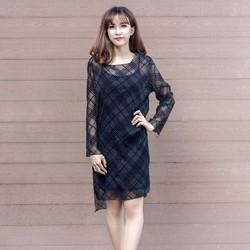 Đầm sọc đen cá tính