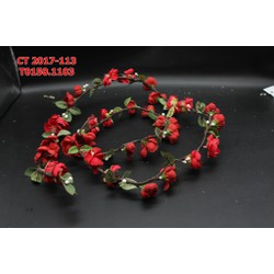 Dây hoa cài tóc màu đỏ tươi