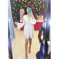 Đầm xoè ren sò _MỎ CHU SHOP