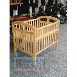 Nôi gỗ cho trẻ gỗ tự nhiên- nôi cũi an toàn cho bé - giường cũi cho bé