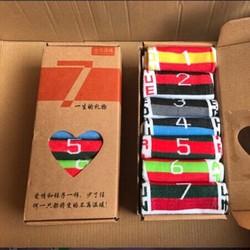 [Hộp quà tặng] Combo 7 đôi vớ nam 7 ngày hình quốc kỳ