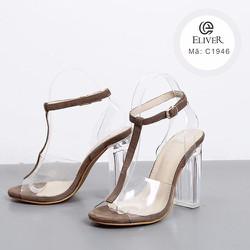Giày cao gót hở mũi đế vuông_C1946