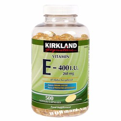 Viên uống đẹp da Kirkland Vitamin E 400IU 500 viên Wowmart VN