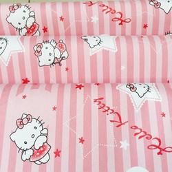 Combo 5m giấy dán tường Hello Kitty hồng BINBIN DTL17