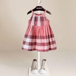 Đầm xòe hai dây dành cho bé gái