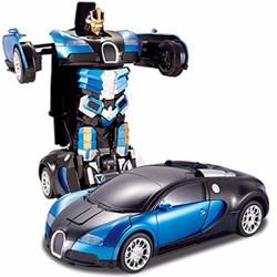Xe chạy pin , biến hình thành Robot  cho trẻ 3+