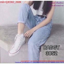 Quần jean nữ màu trắng trẻ trung QJE303