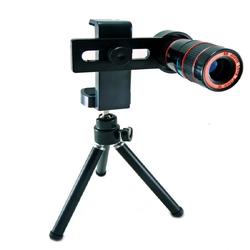 Ống kính chụp hình Zoom 12x đa năng cho điện thoại - Đen
