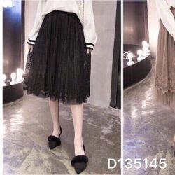 Chân váy ren lưới