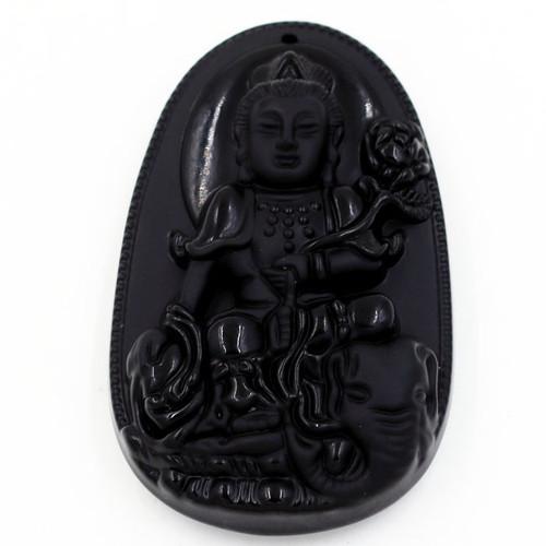 Mặt Phật bản mệnh Bồ tát Phổ hiền 6cm