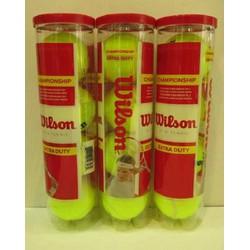 3 Lon bóng tennis Wilson đỏ 4 quả