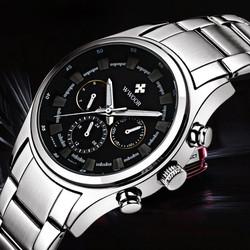 Đồng hồ thể thao chạy 6 kim dây inox đúc máy Nhật - Mã số: DH1707