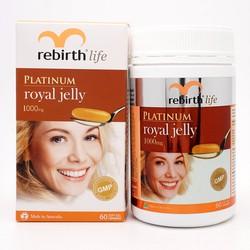 Viên Uống Sữa Ong Chúa Tăng Cường Sức Khỏe Và Làm Đẹp Da 60v Rebirth