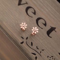 phụ kiện trang sức - Bông tai hoa nâu - trang sức nữ