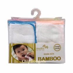 20 Khăn Sữa BamBoo Kháng Khuẩn - Mollis Cao Cấp