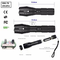 Đèn pin siêu sáng Police Ultrafire XML-T6 chiếu xa 300m