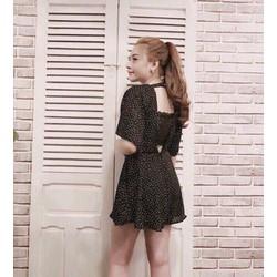 Jumpsuit short bi cánh dơi kèm áo ren _MỎ CHU SHOP