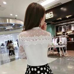 Áo ren hoa nữ dài tay siêu xinh