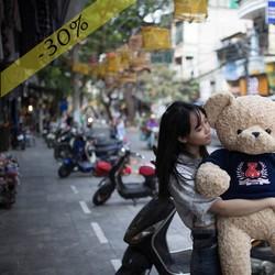 Gấu Bông Áo Teddy 1m4