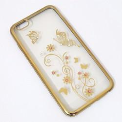 Ốp lưng viền màu iPhone 6 Plus hoa văn mẫu 3