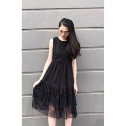 Đầm voan sát nách ba tầng Chiba Shop